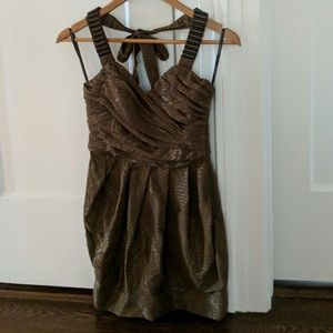 bebe Army Green Short dress XXS